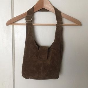 Handbags - Suede Shoulder Bag